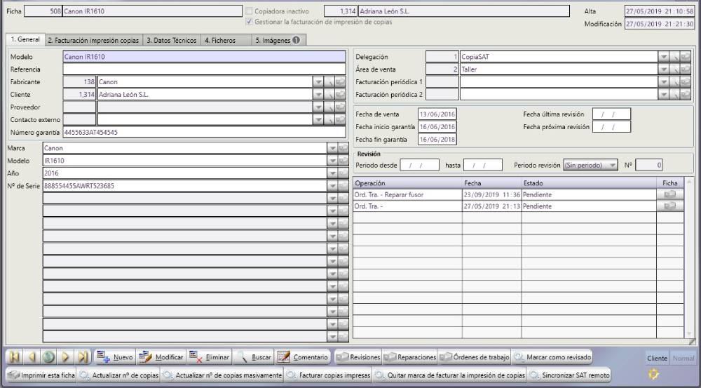 gestion de copias